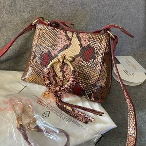 NWT See by Chloe Joan Snake print Bag Mini